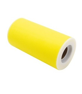 Tulle in rotolo 12,5cmx25mt giallo Big Party