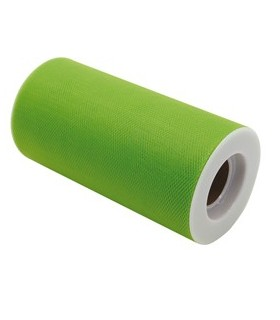 Tulle in rotolo 12,5cmx25mt verde Big Party
