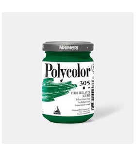 Colore vinilico Polycolor vasetto 140 ml verde brillante scuro Maimeri