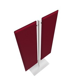 Piantana a 2 pannelli Moody Rosso H140