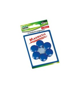 BLISTER 12 MAGNETI MR-20 BLU DIAM.20MM